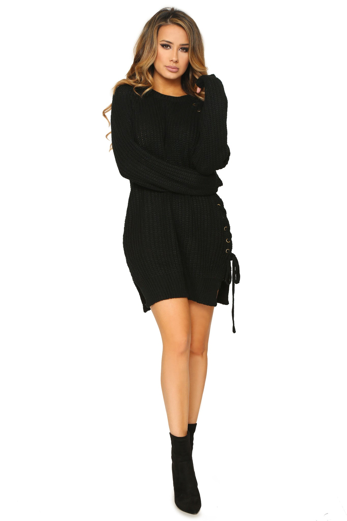TAMIA SWEATER DRESS - Glam Envy - 1