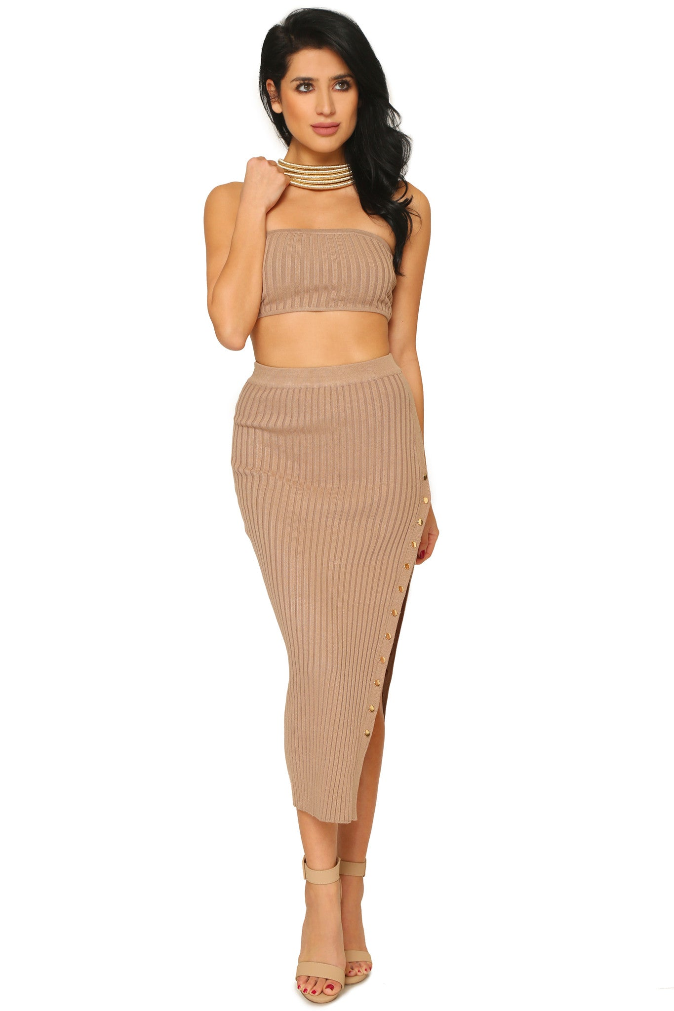 GISELLE CROP TOP AND SKIRT (SOLD SEPARATELY) - Glam Envy - 1