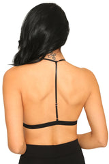 BLACK APPLIQUE BRALETTE - Glam Envy - 3