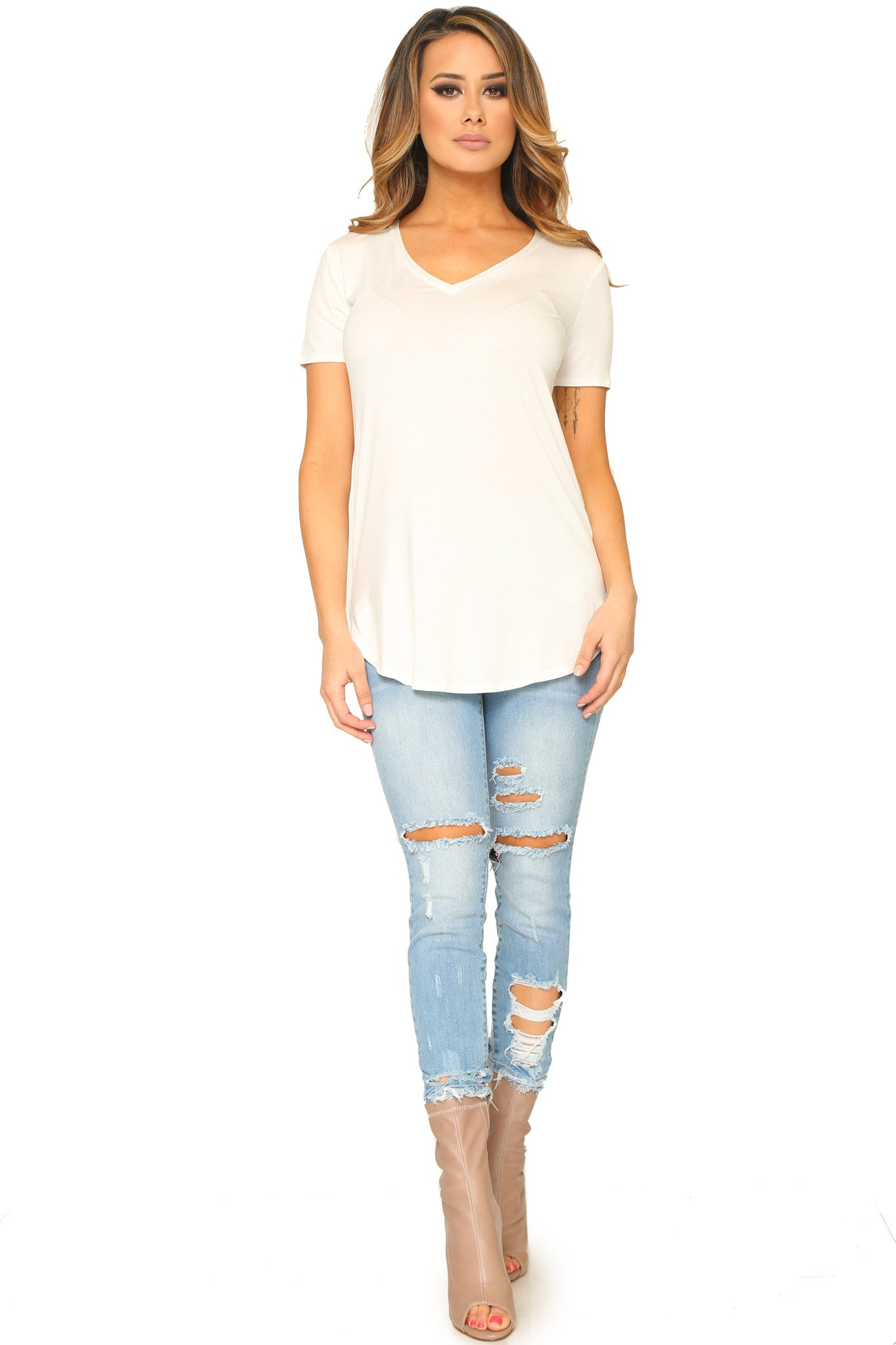 KIERSTEN V-NECK SHIRT