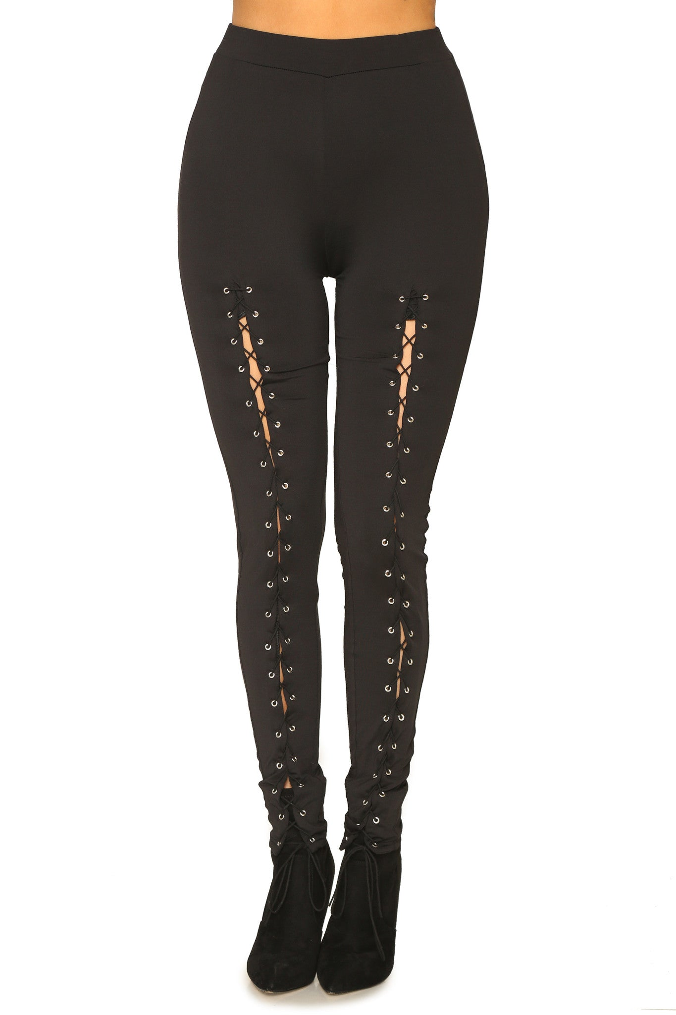 LACE ME UP LEGGINGS - Glam Envy - 1