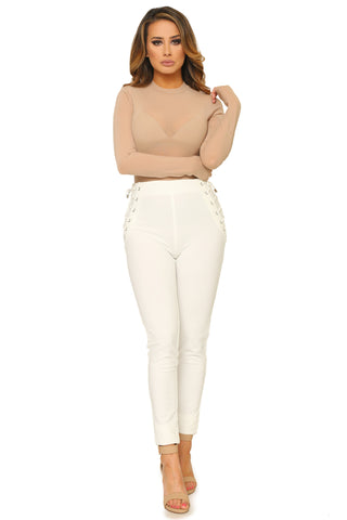 LORENA LACE UP PANTS - Glam Envy - 1