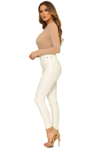 LORENA LACE UP PANTS - Glam Envy - 2