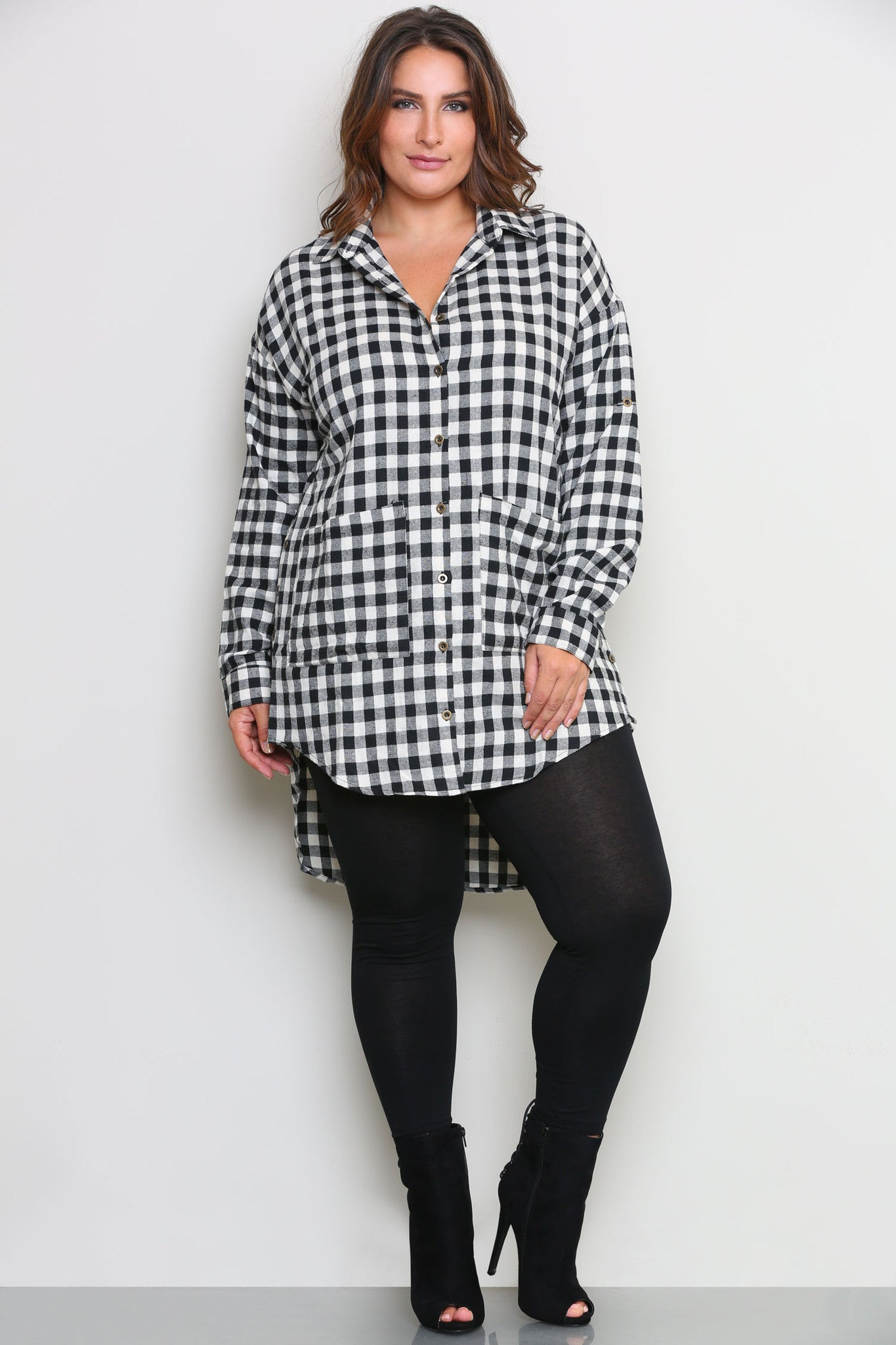 RONNIE FLANNEL SHIRTDRESS - Glam Envy - 1