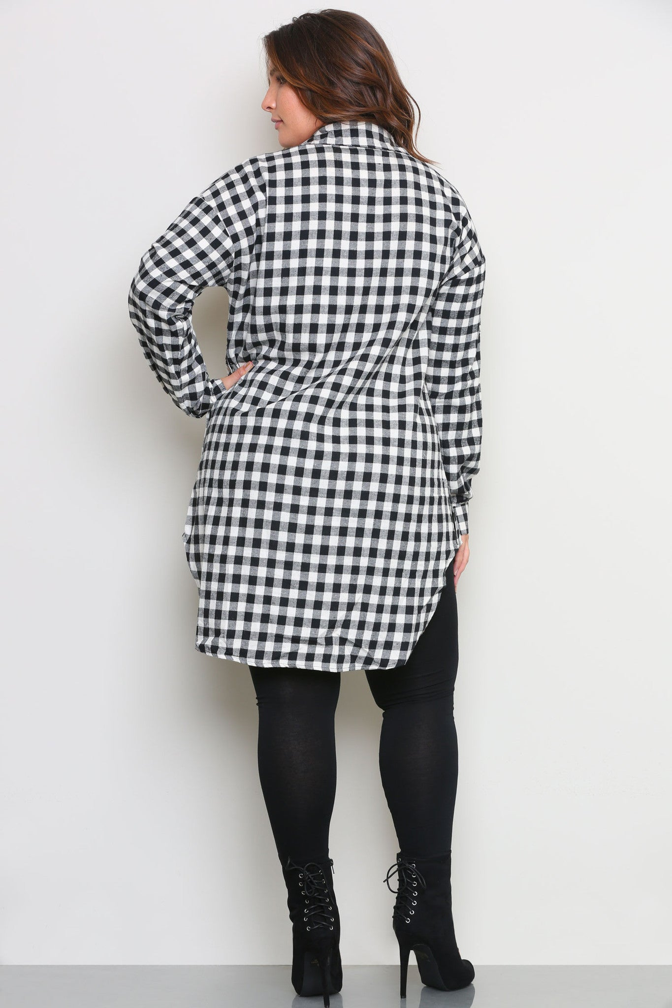 RONNIE FLANNEL SHIRTDRESS - Glam Envy - 3