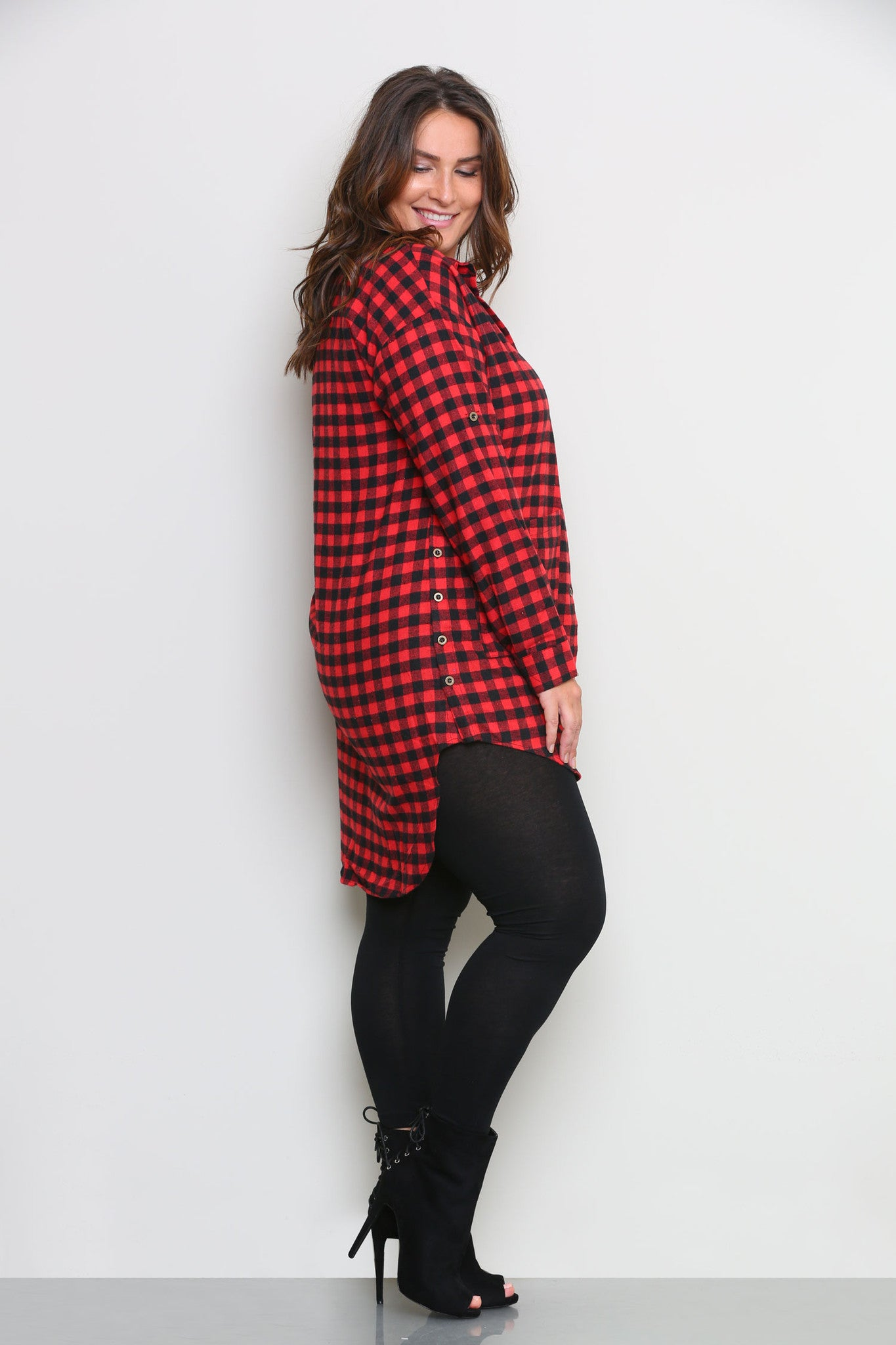 RONNIE FLANNEL SHIRTDRESS - Glam Envy - 2