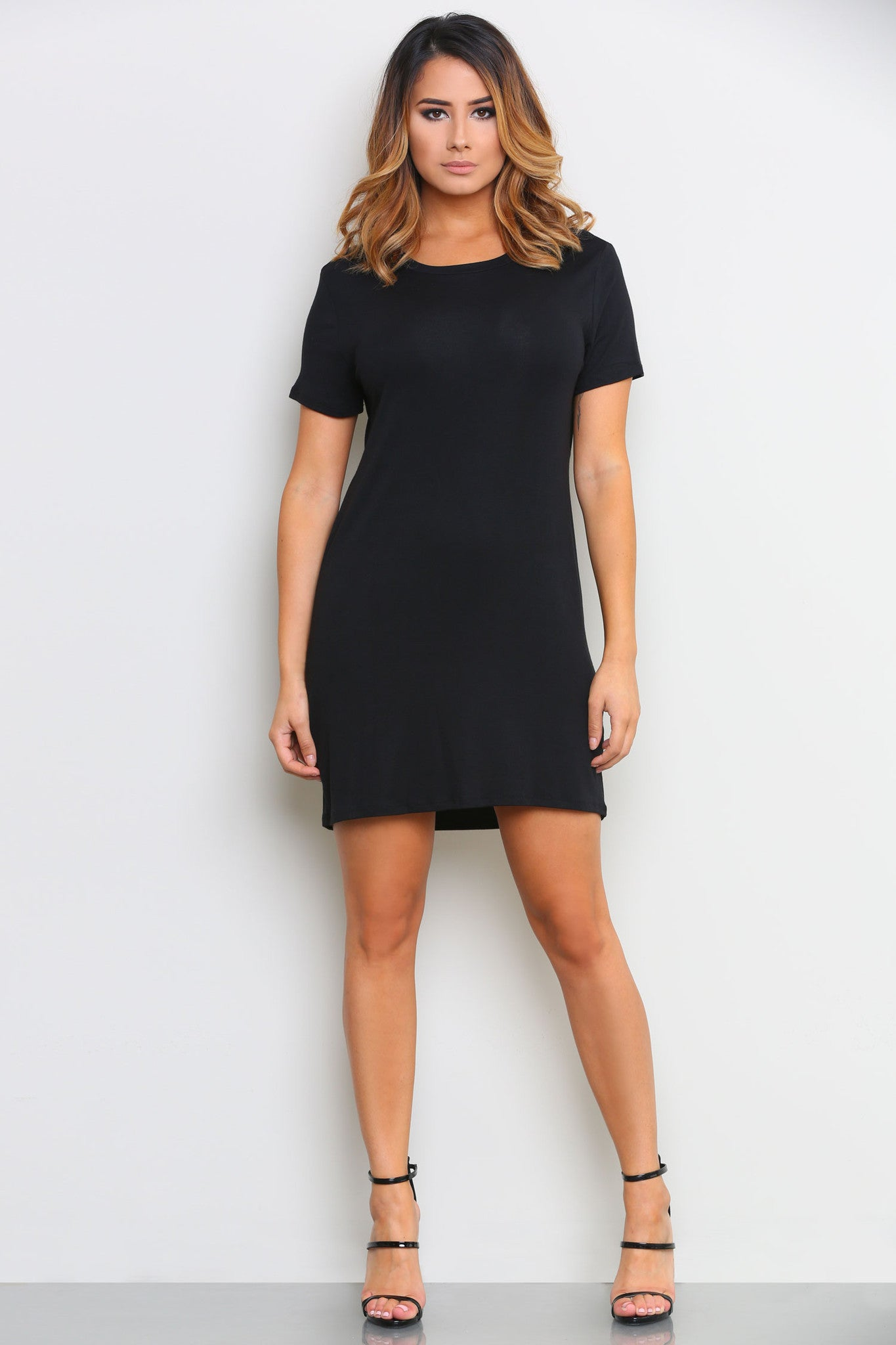 AUTUMN T-SHIRT DRESS - Glam Envy - 1