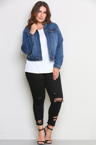 BEVERLY DENIM JACKET - Glam Envy - 1