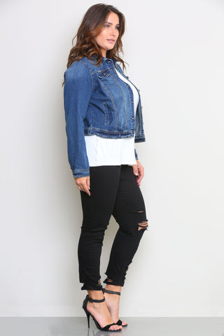 BEVERLY DENIM JACKET - Glam Envy - 2