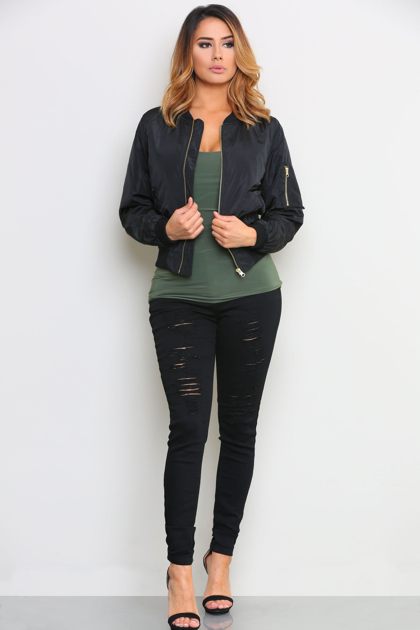 CHRISTINE BOMBER JACKET - Glam Envy - 2