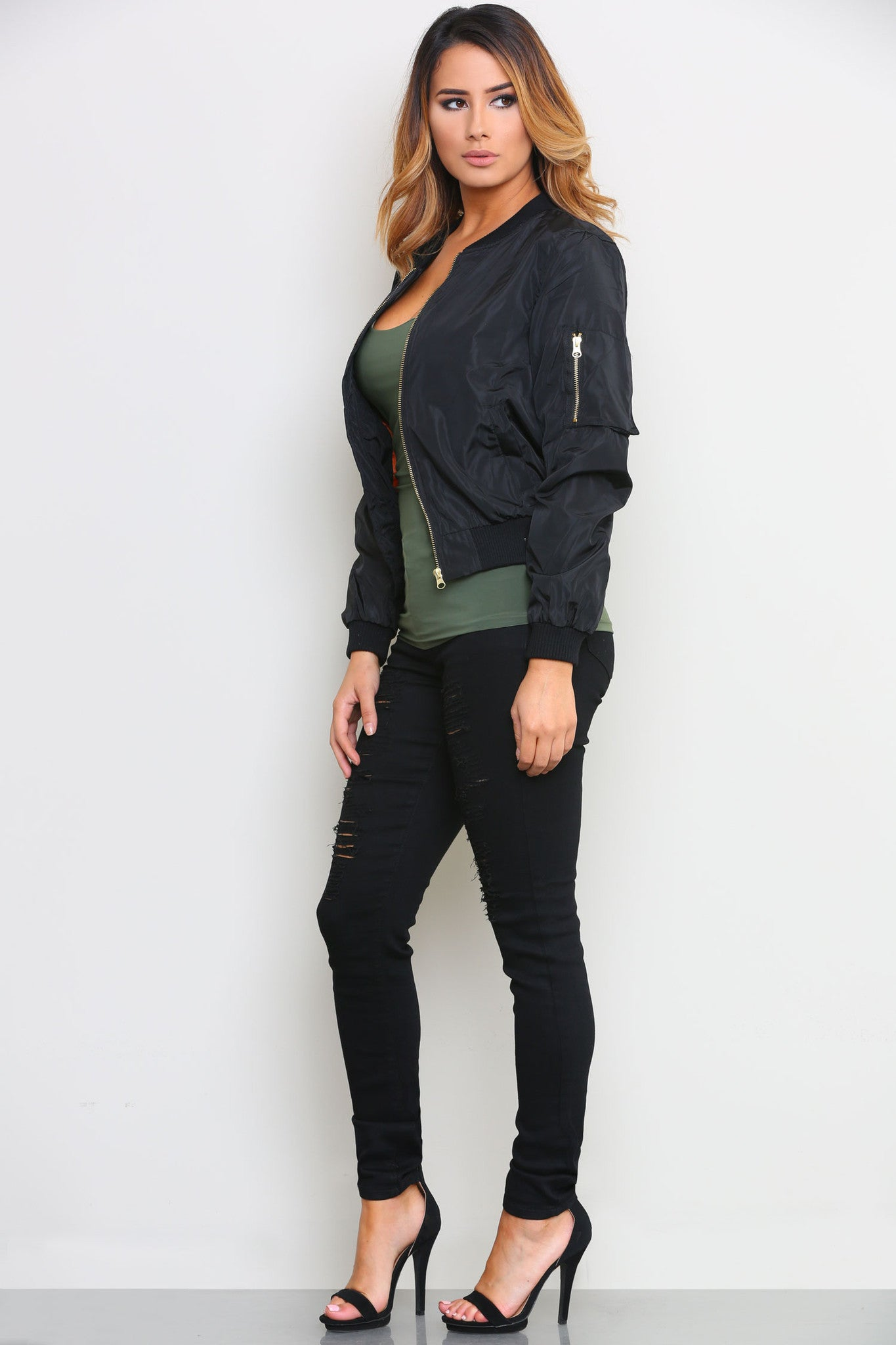 CHRISTINE BOMBER JACKET - Glam Envy - 1