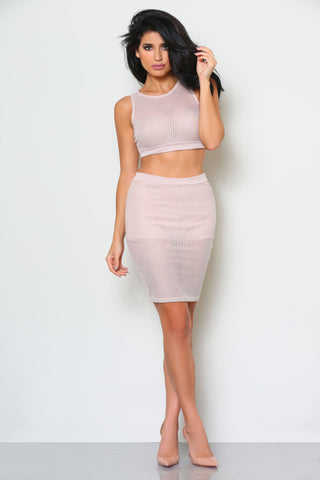 HELENA CROP TOP AND SKIRT SET (SOLD SEPARATELY) - Glam Envy - 1