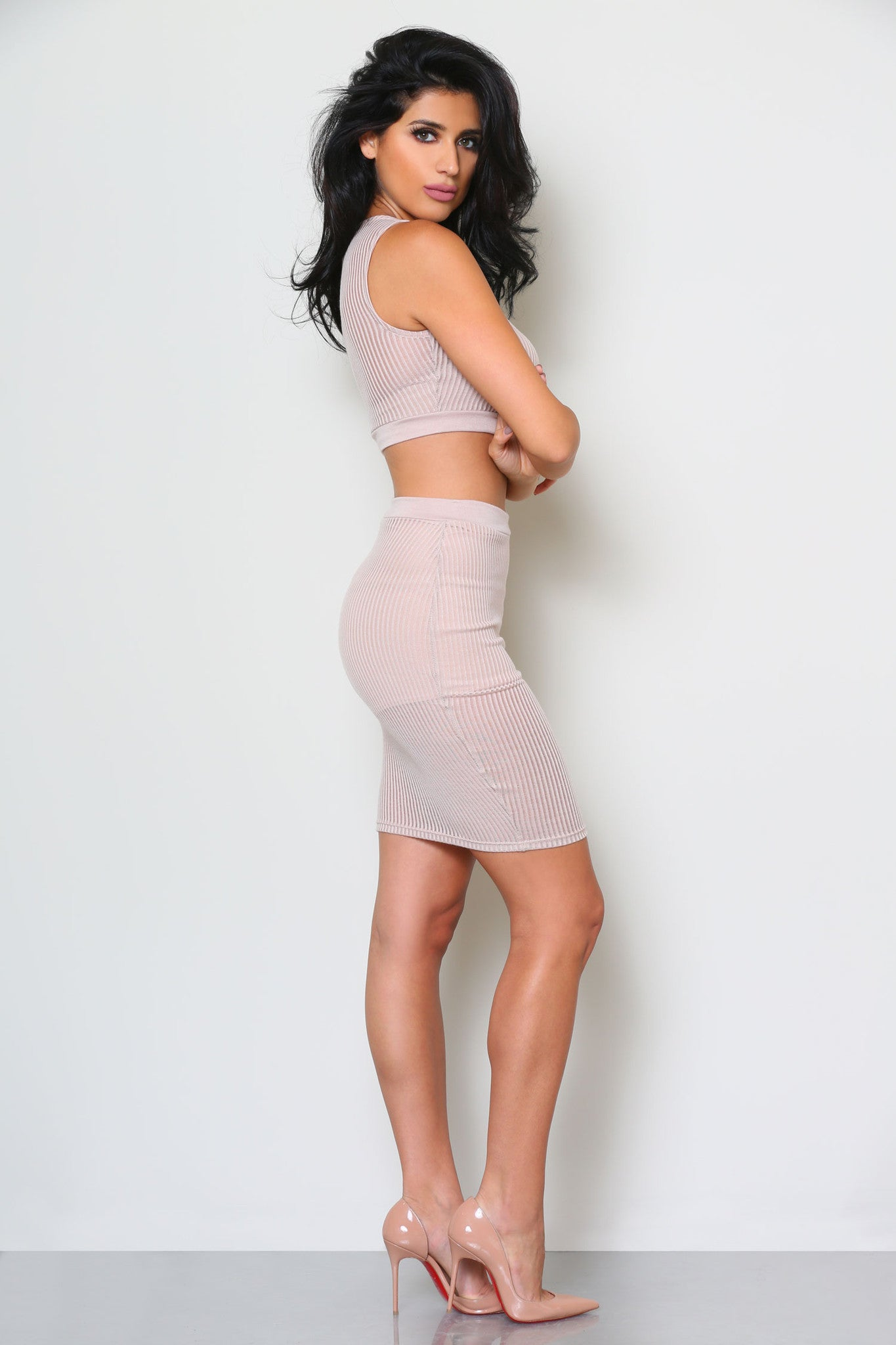 HELENA CROP TOP AND SKIRT SET (SOLD SEPARATELY) - Glam Envy - 2