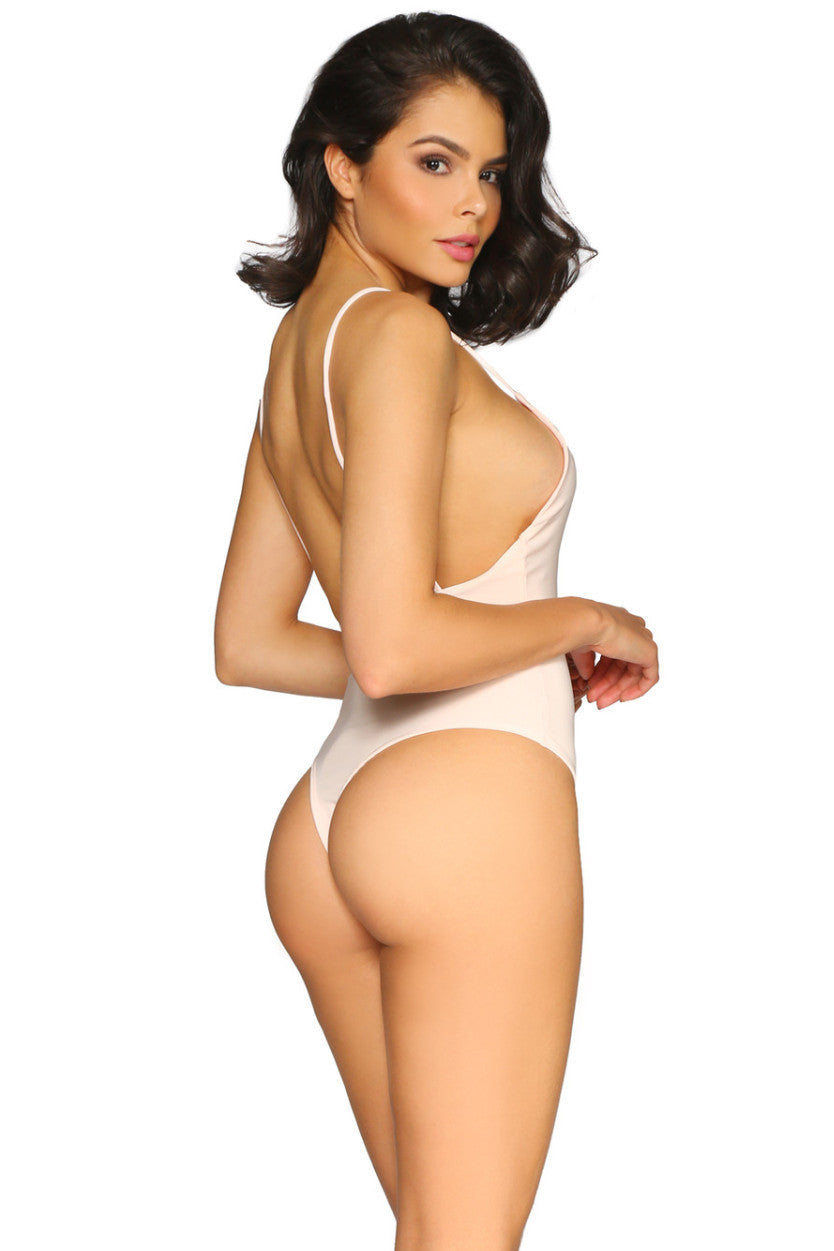 KAIDEN BODYSUIT BLUSH GLAM ENVY BACK PROFILE