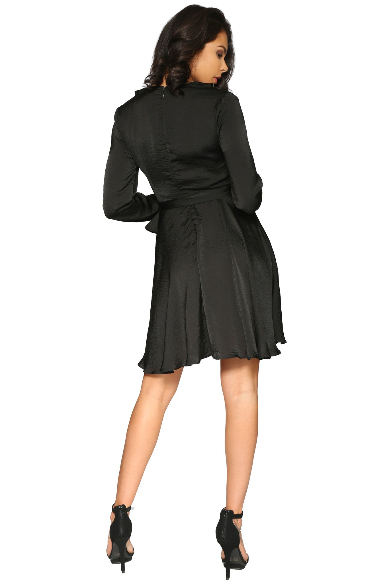 MARI DRESS BLACK GLAM ENVY BACK PROFILE