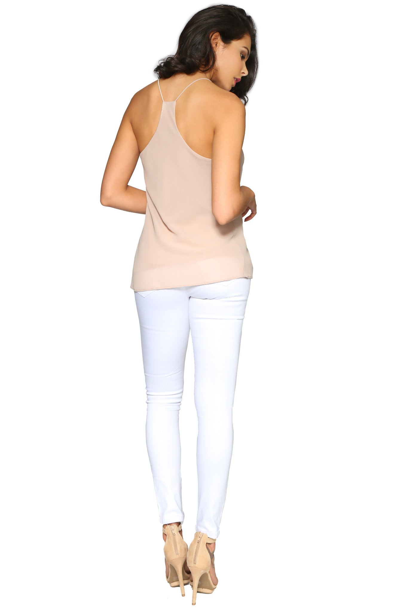 KATE CAMISOLE TAUPE GLAM ENVY BACK PROFILE