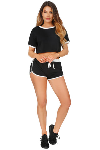 HEAT WAVE CROP AND SHORTS SET