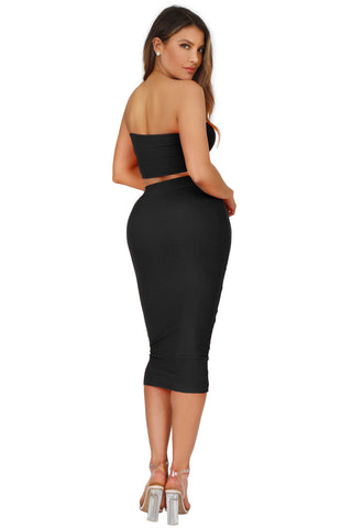 EFFORTLESS BANDEAU AND SKIRT SET