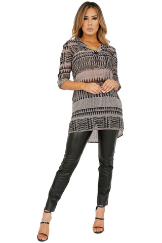 MARIELLA TUNIC BLOUSE (AVAILABLE IN 2 COLORS)