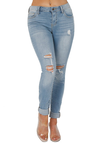 ALL CUT UP JEANS (SIZES 0-13)