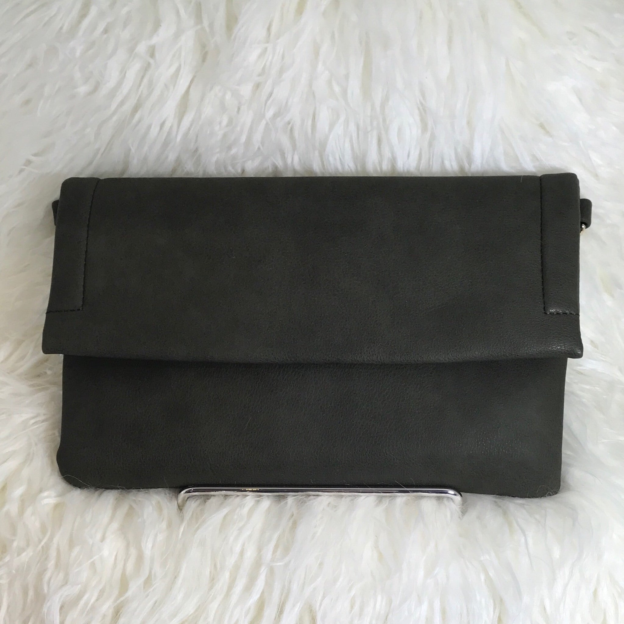 OLIVE FLAP CLUTCH - Glam Envy