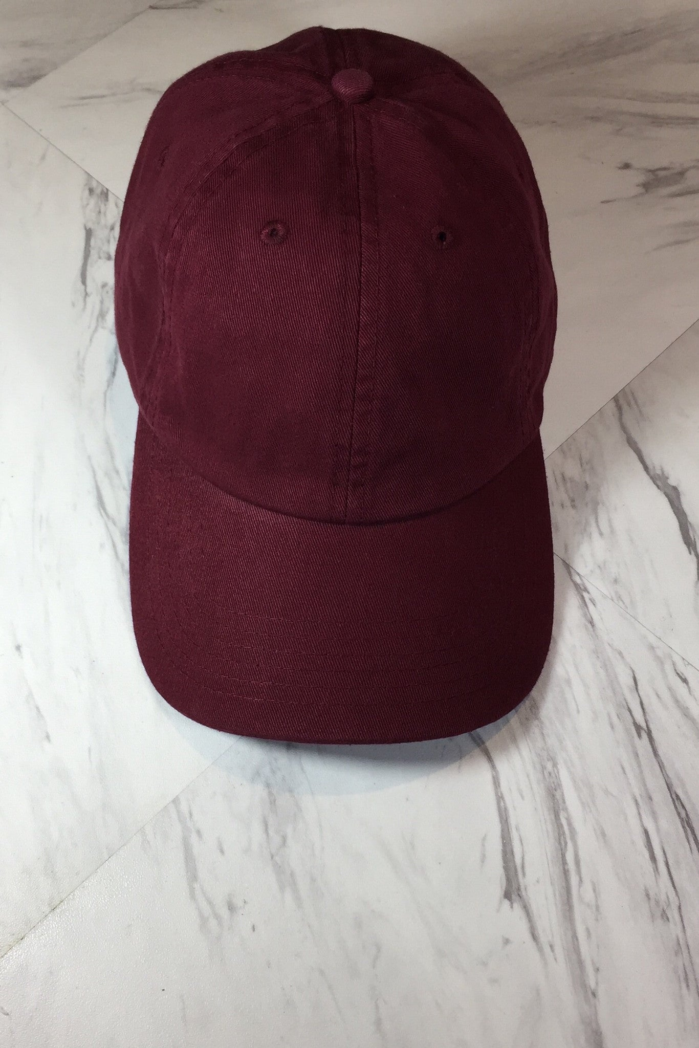 FADED BURGUNDY BASEBALL HAT
