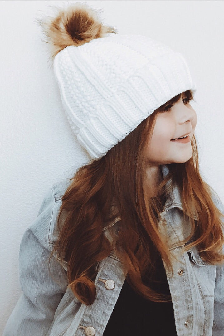 SNOW DAY KIDS POM POM BEANIE