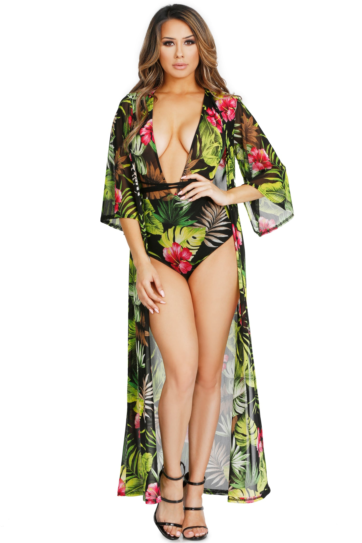 PARADISE BODYSUIT AND DUSTER SET (SOLD SEPARATELY)