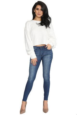 WEDNESDAY CROPPED SWEATSHIRT