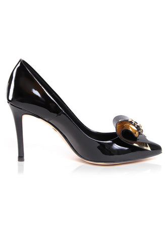 Patent Leather Ribbon Pumps