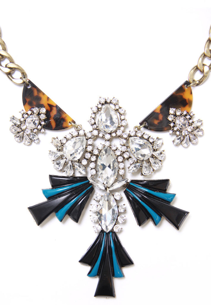 Art Deco Crystal Necklace