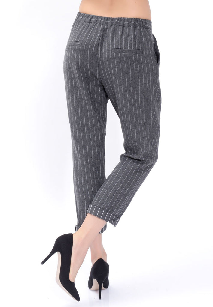 Stripped Crêpe Pants