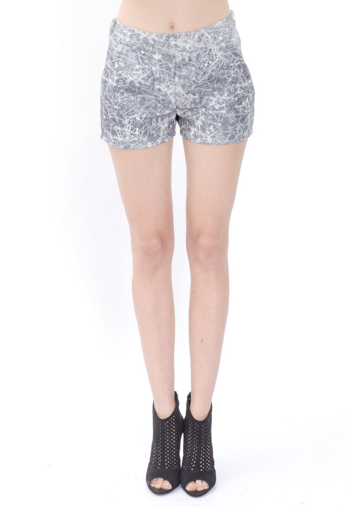 Grey Printed Shorts