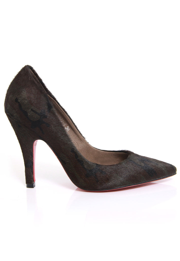 Camouflage Calf Hair Pumps