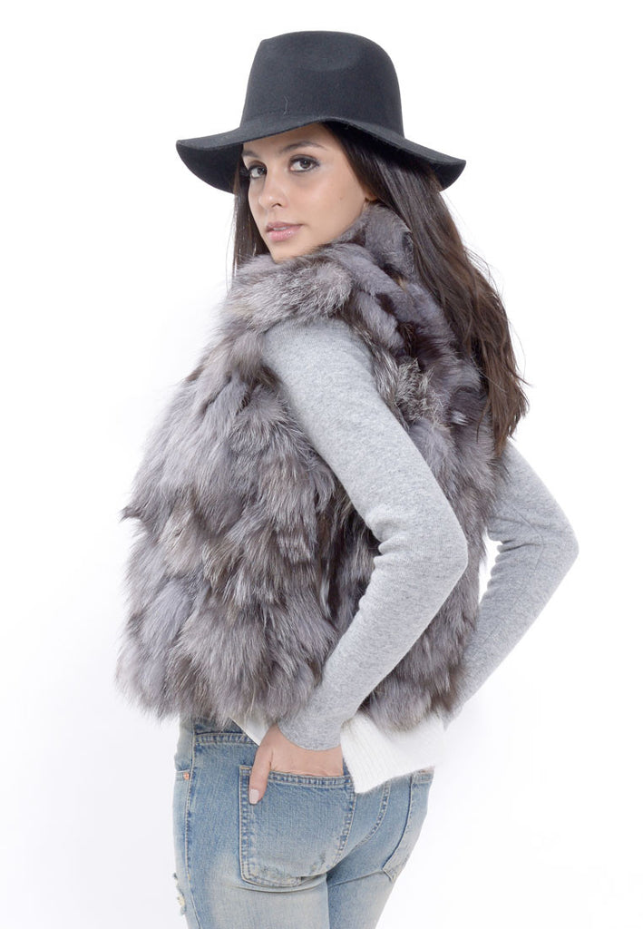 Grey Fox Fur Vest