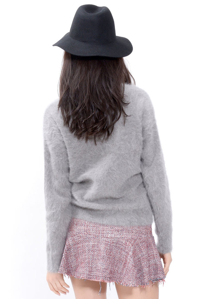 Grey Angora Blend Sweater