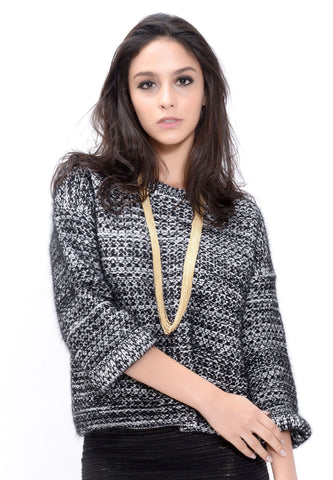 Dark Grey Silk Mohair Sweater