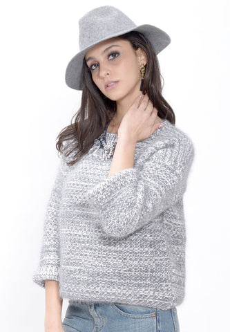 Light Grey Silk Mohair Sweater