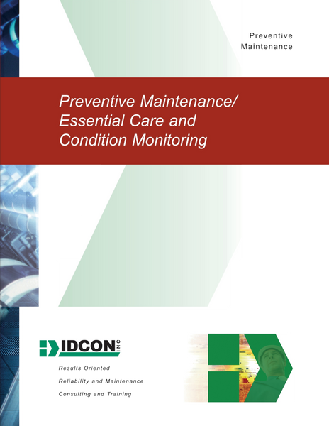 IDCON Preventative Maintenance/Essential Care and Condition Monitoring