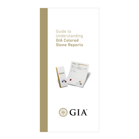 Understanding a GIA Colored Stone Report Brochure