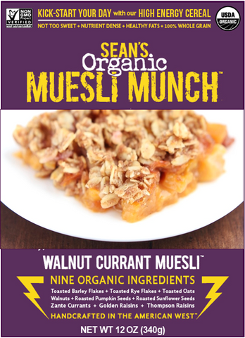 Peach Cobbler Crumble made with Muesli Munch