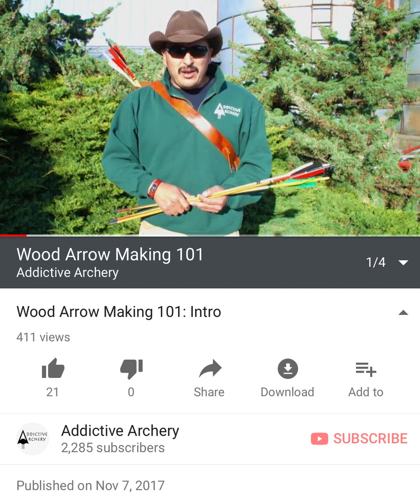 Wood Arrow Making 101 Series