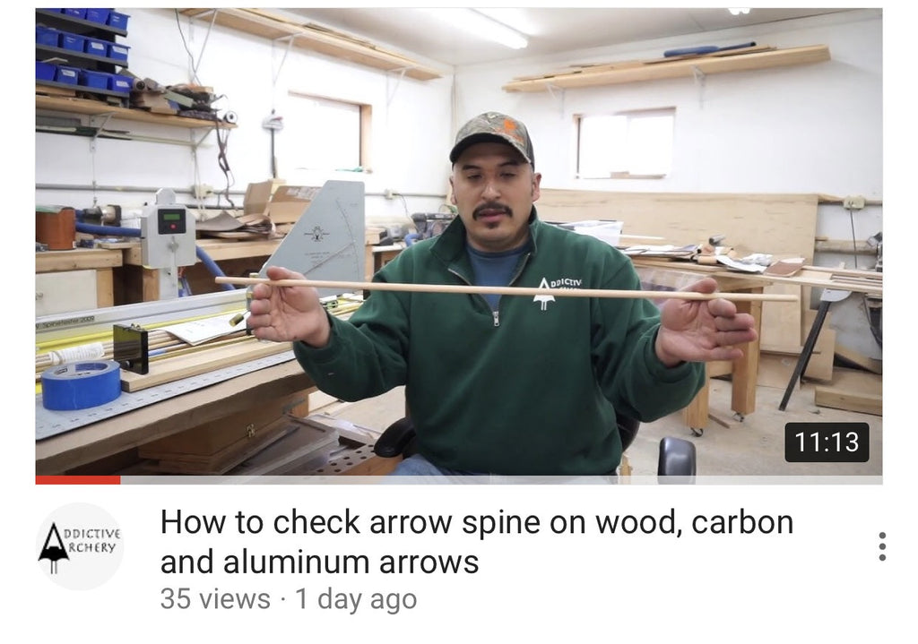 How to check arrow spine