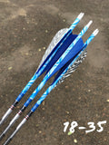 "4"" Parabolic Zebra Color Feathers"