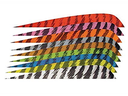 "4"" Parabolic Barred Color Feathers"