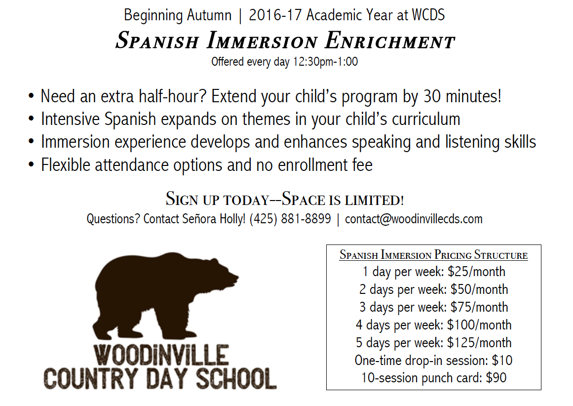 Spanish Immersion - 10 Session Punch Card