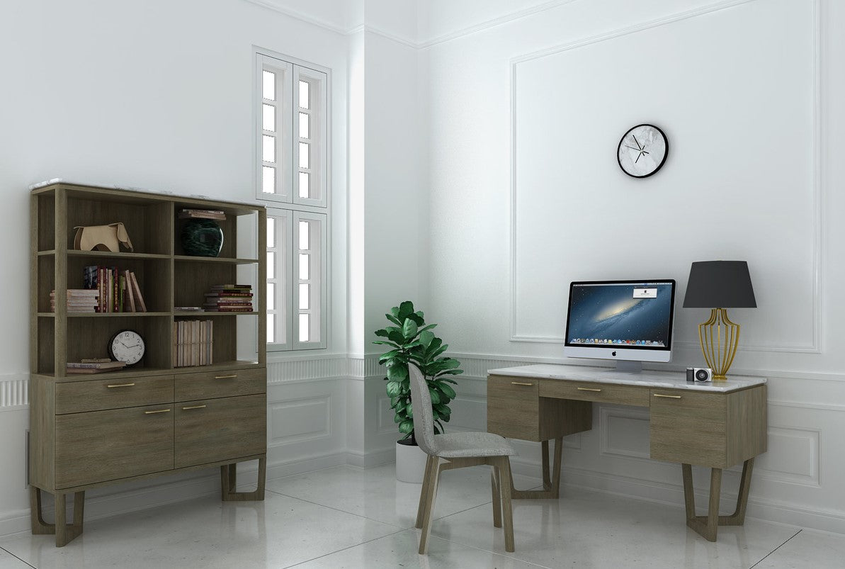 Aura Home office, Desk, Chair And bookcase from LH Imports