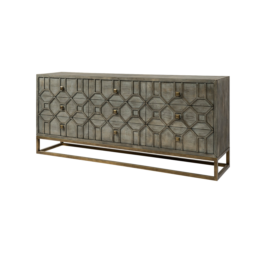 Genvieve Nine Drawer Dresser