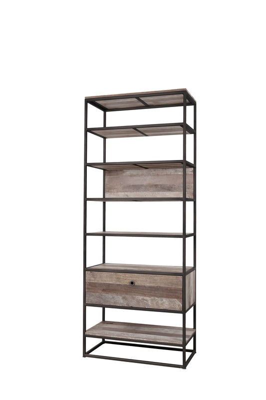 Primitive Multi-Level Bookcase