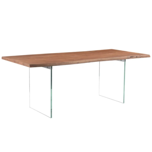 Reflex Dining Table With Glass Base
